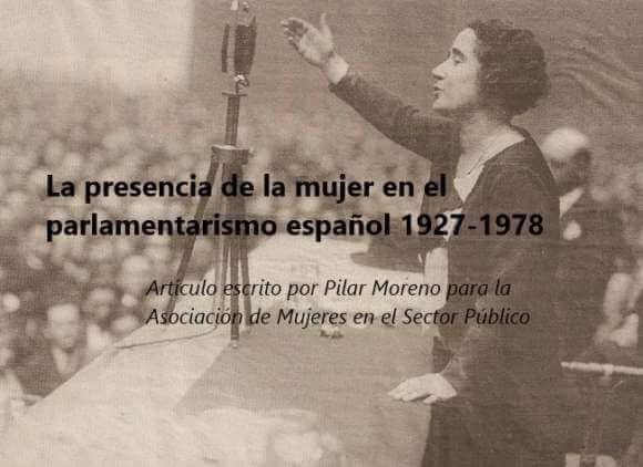 La presencia de la mujer en el parlamentarismo español